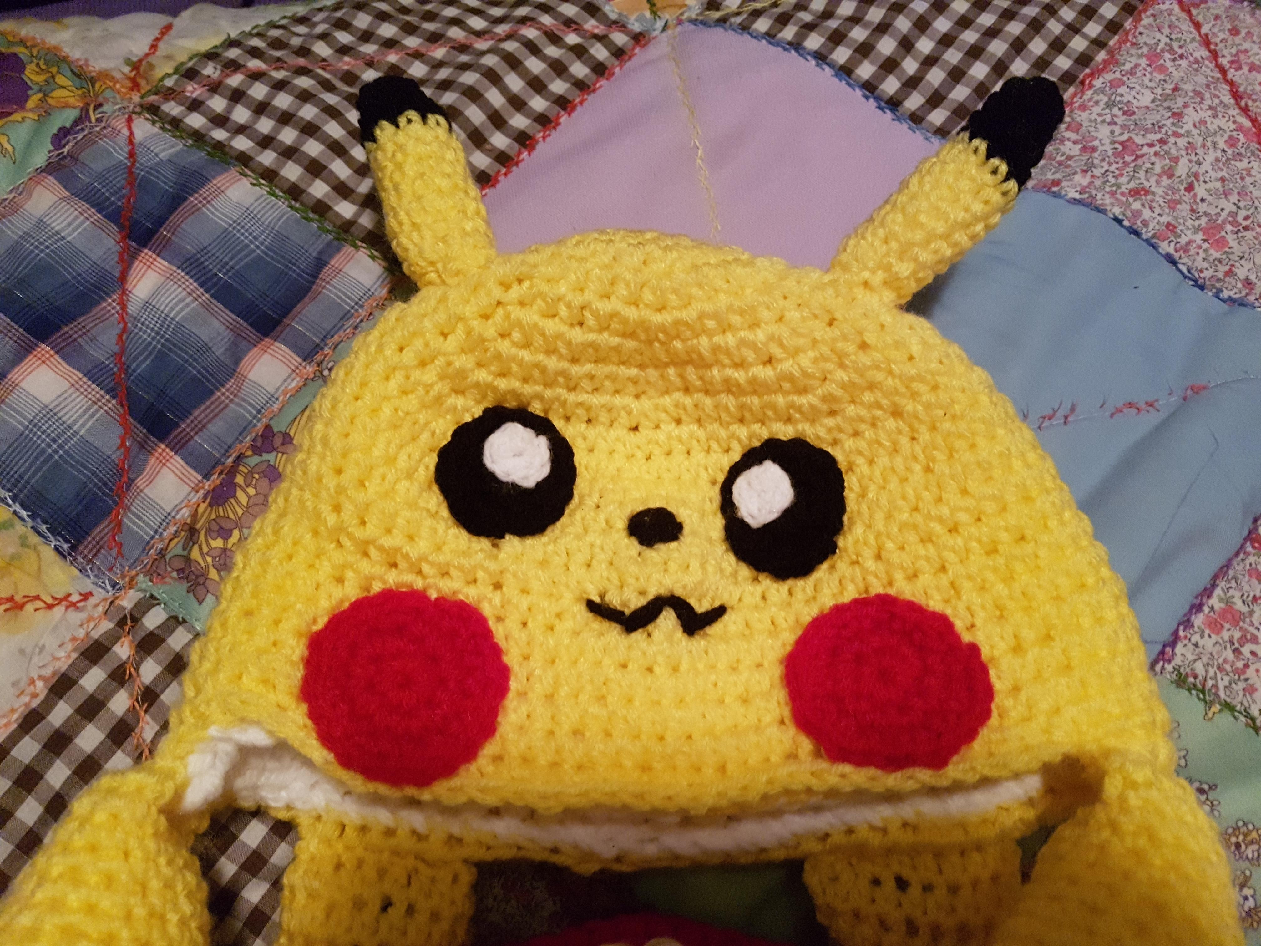 Free Pokemon Pikachu Hat And Cowl Crochet Pattern Crochetstein